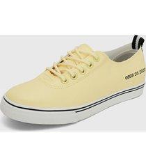 tenis amarillo-blanco keddo