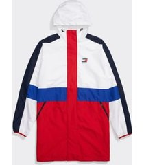 tommy hilfiger men's adaptive hooded icon jacket apple red / bright white - xxl