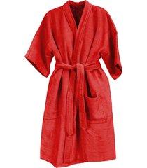 roupã£o de banho veludo adulto algodã£o goiaba - vermelho - feminino - dafiti
