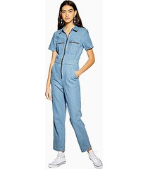 mid stone short sleeve boiler suit - mid stone