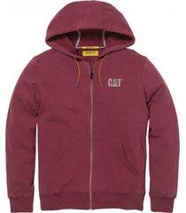 buzo bordó cat logo sweatshirt