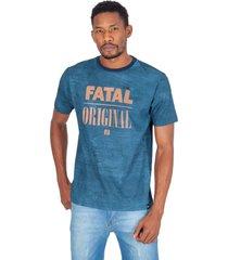 camiseta fatal especial estampada azul marinho