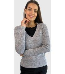 sweater io   liso gris - calce ajustado
