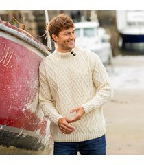 mens glengarriff cream aran sweater xs