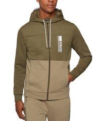 boss men's interlock hooded sweatshirt