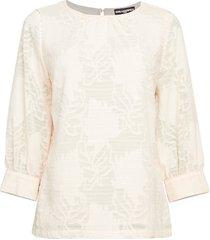 burnout lace blouse