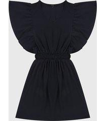 vestido azul oscuro vero moda