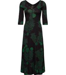 vest yess maxi dress galajurk groen desigual