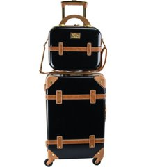 "chariot gatsby 2-pc. 20"" carry-on and beauty case set"