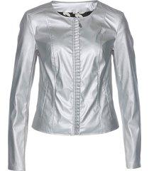 giacca in similpelle con fodera fantasia (argento) - bpc selection premium
