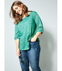 shirt janet & joyce groen::marine
