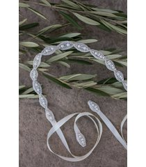 women's untamed petals by amanda judge poppy bead & crystal belt