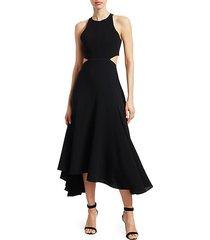 belladonna sleeveless crepe dress