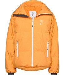 cloud down jacket gevoerd jack oranje johaug