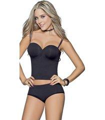 corsets adulto femenino negro marketing personal 60582