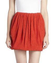 nina ricci women's cotton & silk mini bubble skirt - red - size 38 (6)