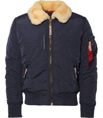 alpha industries replica blue injector iii jacket 143104
