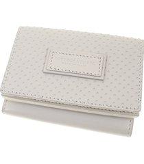 bottega veneta intrecciato leather small wallet white, ivory sz: m