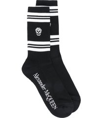 man black and white skull socks