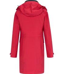 lange rainwear-jas met capuchon van fuchs & schmitt rood