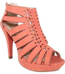 zapatos  sandalias tacon alto  con  plataformas durasno lince  wanted