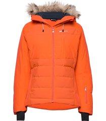 kikkut down jacket fodrad jacka orange skogstad