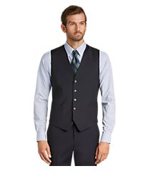 1905 collection tailored fit textured men's suit separate vest by jos. a. bank
