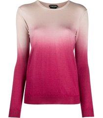 tom ford ombré-effect fine knit jumper - pink