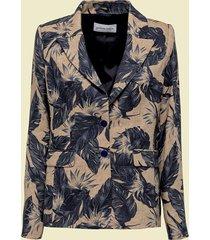 giuliette brown giacca monopetto in lino