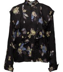 aia blouse so18 blus långärmad svart gestuz