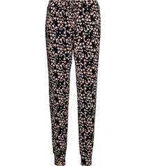 pant jersey painted leopard pyjamasbyxor mjukisbyxor svart hunkemöller