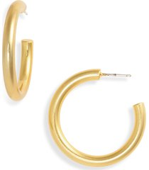 women's madewell chunky medium hoop earrings