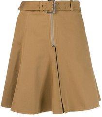 alexa chung buckled waist skirt - neutrals
