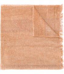 fabiana filippi oversized fine knit scarf - neutrals