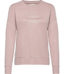 anf womens graphics stickad tröja rosa abercrombie & fitch