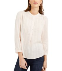 lucky brand woven button-down shirt
