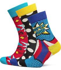 3-pack father's day socks gift set underwear socks regular socks multi/mönstrad happy socks