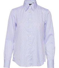 8748 - sandie new overhemd met lange mouwen blauw sand