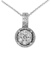 bouquet by effy diamond circle cluster pendant (3/8 ct. t.w.) in 14k white gold