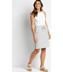 maurices womens heather gray ribbed pocket skirt