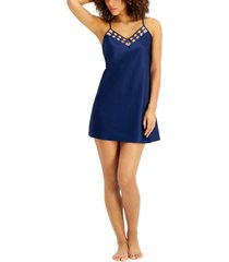 inc satin mesh chemise nightgown, created for macy's