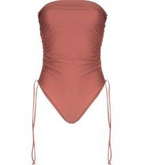 juillet lennox bandeau swimsuit - purple