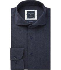 donkerblauw overhemd profuomo originale slim fit