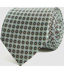 reiss michel - silk medallion tie in green, mens