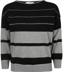 fabiana filippi ribbed stripe sweatshirt