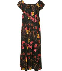 mother of pearl rachel floral-print dress - black
