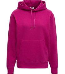 saint laurent pink jersey hoodie with logo