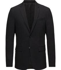 stretch wool slim su blazer colbert zwart calvin klein