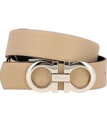 salvatore ferragamo belt salvatore ferragamo gancini belt in reversible leather