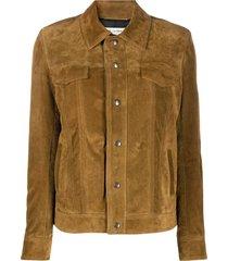 brown fringe suede leather jacket
